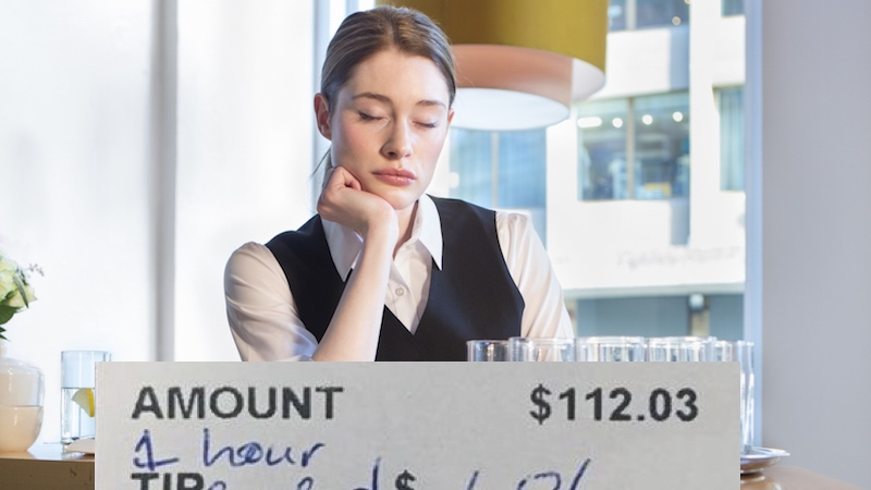 """Waitress who received """"LOL"""" as a tip rants on Facebook against the a$$holes who wrote it."""