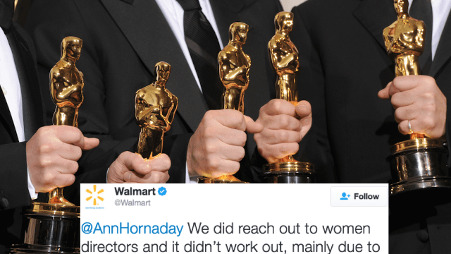 People aren't pleased with Walmart's tweet on why they excluded women from their Oscars promo.