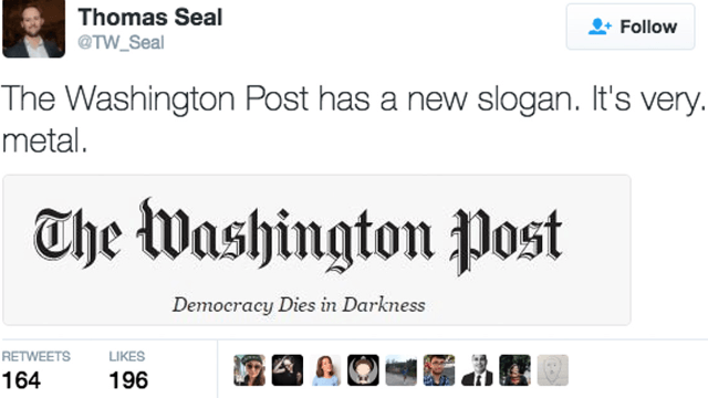 Image result for washington post masthead
