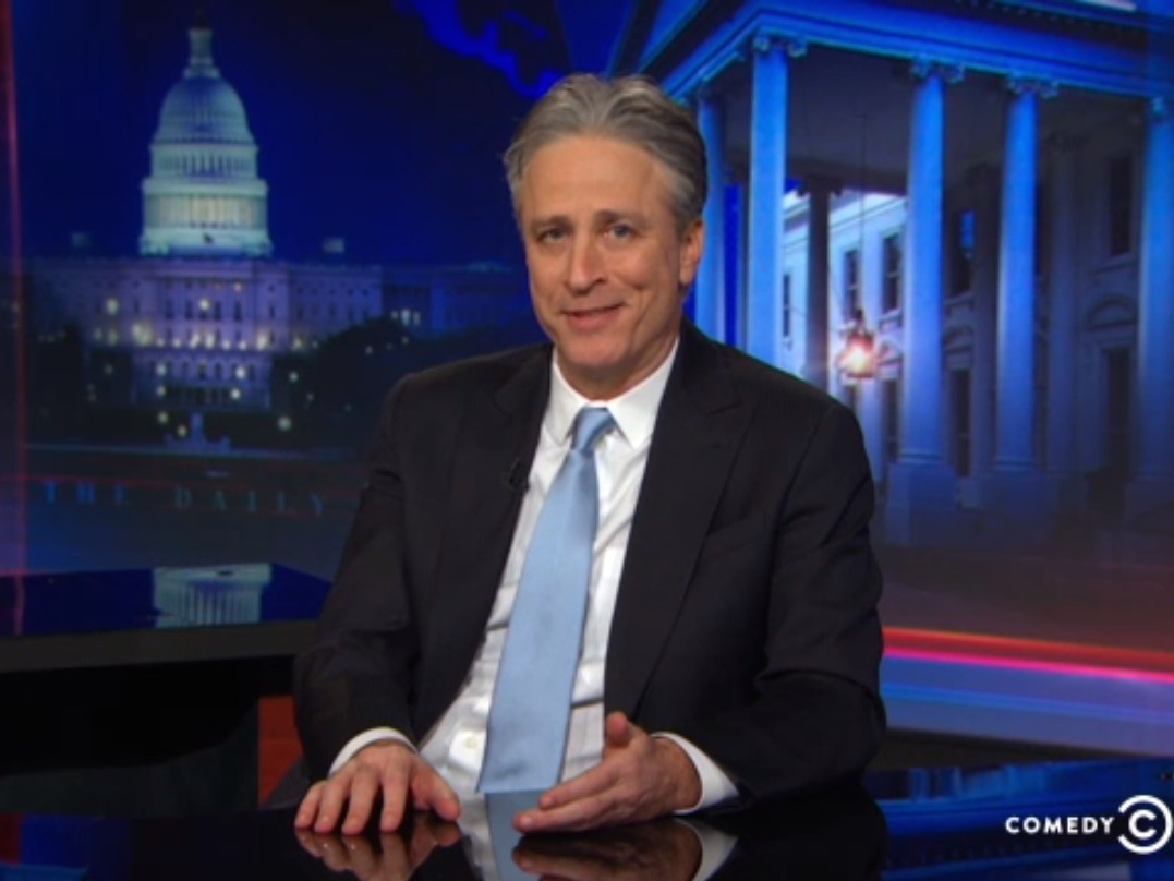 Watch Jon Stewart announce he's leaving the Daily Show forever and try not to cry.
