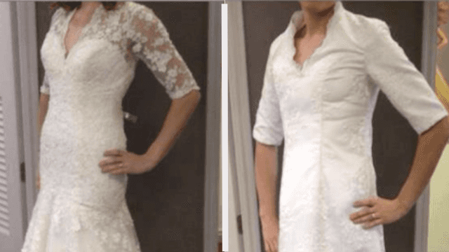 16 pictures that prove you shouldn't buy your wedding dress online.