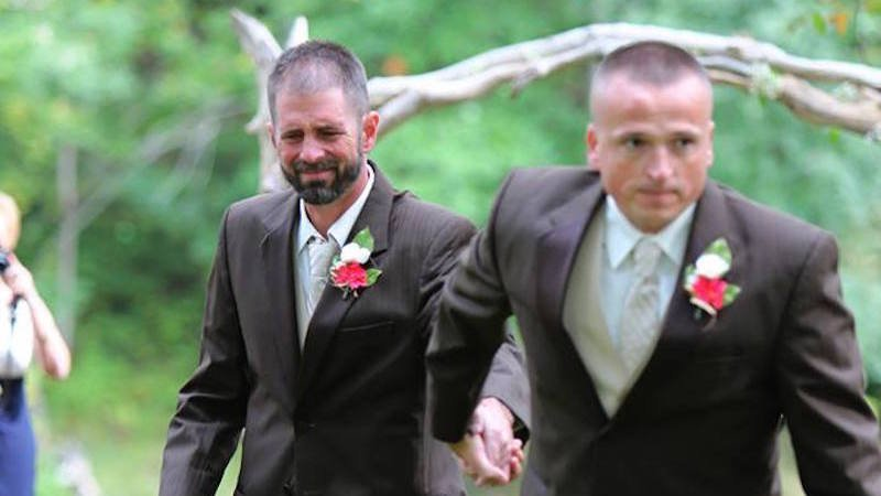 Photographer captures teary moment when father of the bride stopped the wedding.