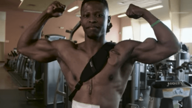 Fitness model has to plug himself in every night, has no pulse, and will make you smile.