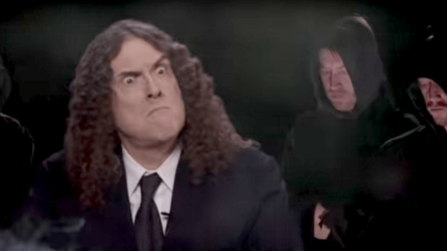 'Bad Hombres, Nasty Women' music video recreates the debate with Weird Al moderating.