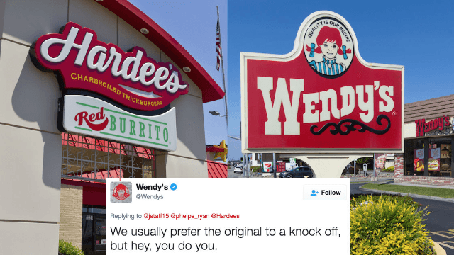 Hardee's tried to beef with Wendy's on Twitter. Big mistake.