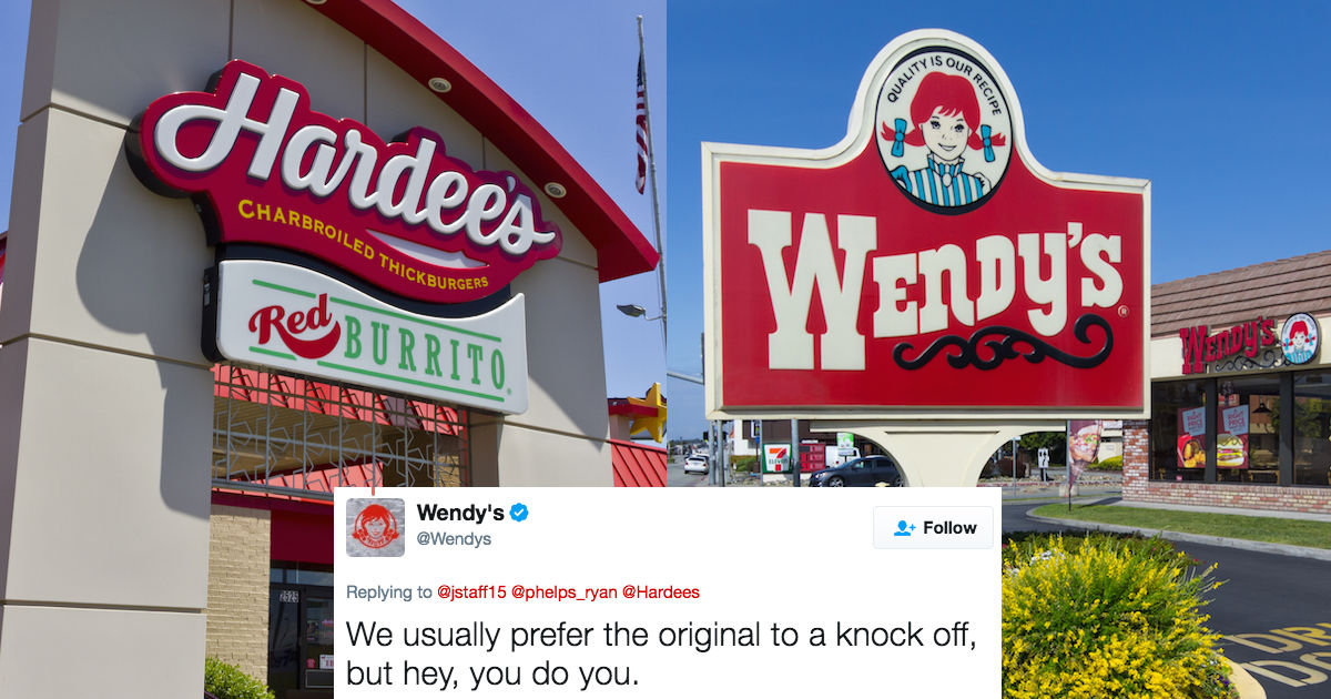 This Twitter rap battle between Wendys and Wingstop