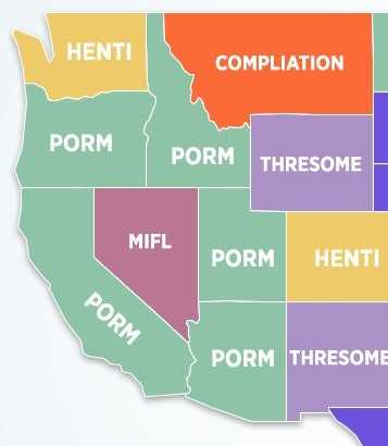 Here Are The Most Commonly Misspelled Porn Terms By State Really - Pornhub porm map of us