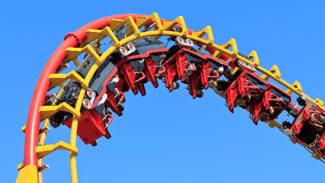 What nightmares are made of: a teen girl was forced to jump off a Six Flags ride.