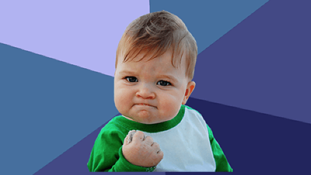 When you see what Success Kid looks like now, you'll be the one fist-pumping.