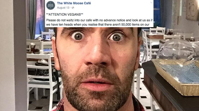 This restaurant owner started a fight with vegans online and it escalated quickly.