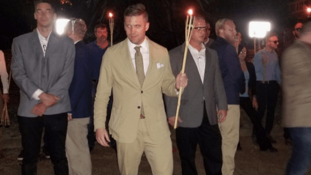 White Supremacists return to Charlottesville in smaller march, threaten 'we'll be back.'