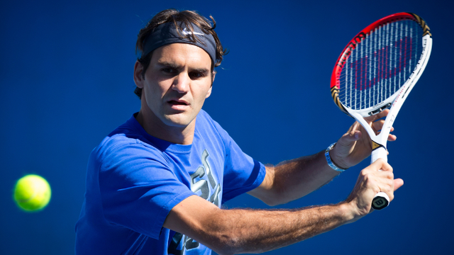 Will Ferrell interviewed Roger Federer as Ron Burgundy and it was classy as hell.