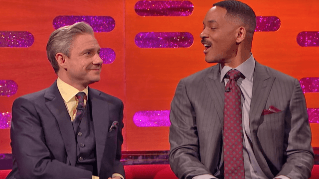 Will Smith does his best impression of you meeting him at a urinal. You're a bit weird.