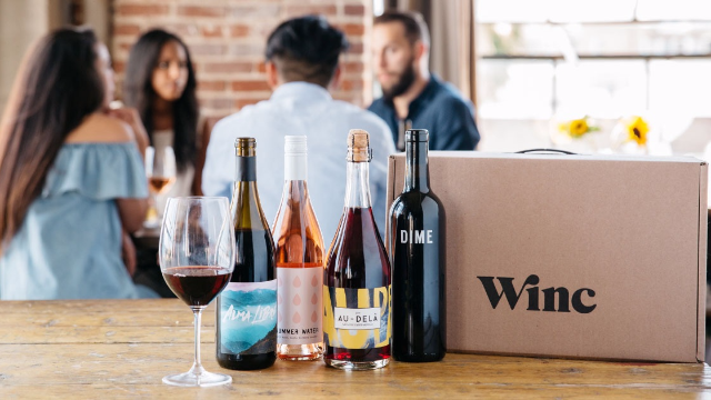 Get Winc's delicious boutique wines for under $7 per bottle delivered right to your door.