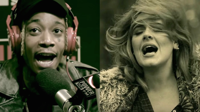 Wiz Khalifa was challenged to freestyle his own version of Adele's 'Hello.' Guess what it's about.