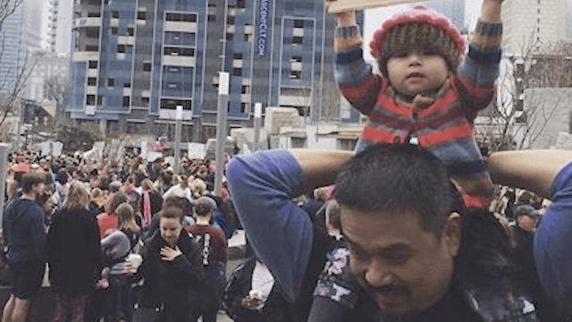 'Woke Baby' had the best sign at the Women's March.