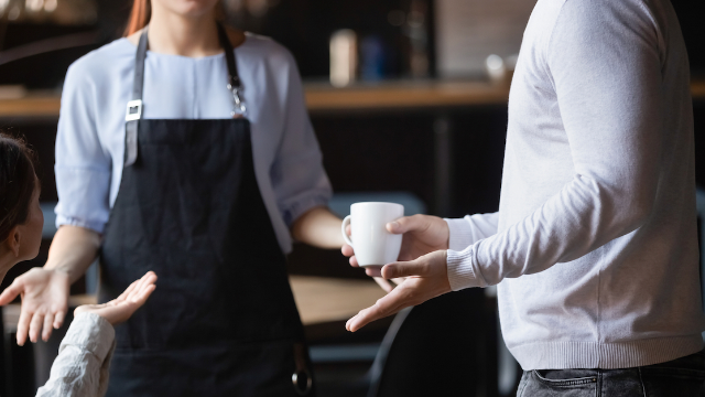 Woman claims she was 'discriminated' against at café when server didn't like her Trump 2020 button.