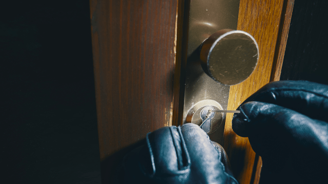 Woman comes home to find very inconsiderate burglars ever having sex on her couch.