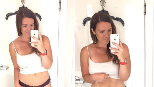 Woman compares two photos of herself to prove that women's sizing is utter BS