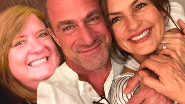 Woman who Photoshopped herself into a selfie of 'Law & Order' stars is the hero we need right now.