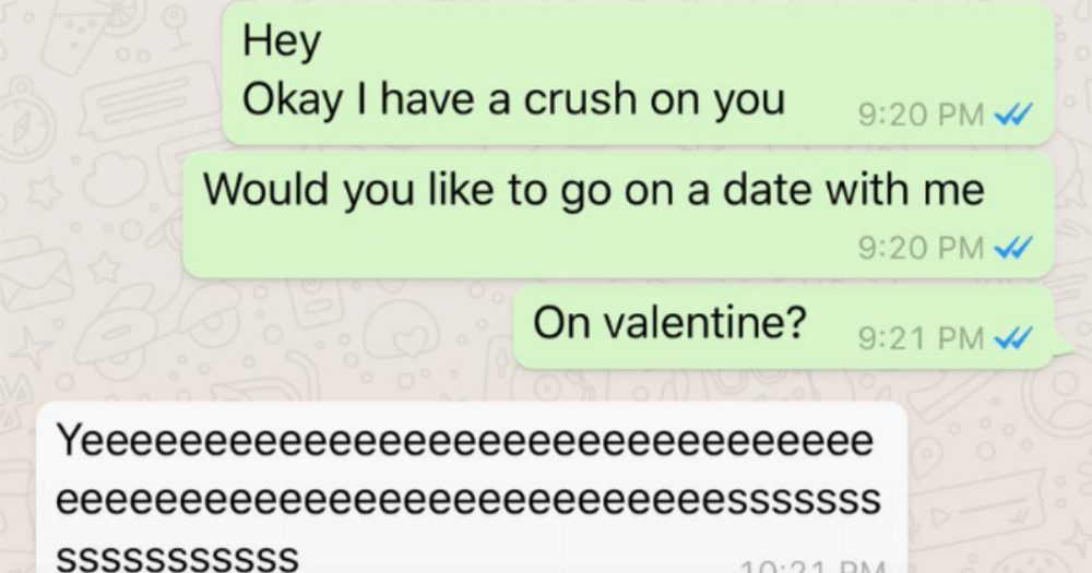 women are sharing their best texts asking out crushes for