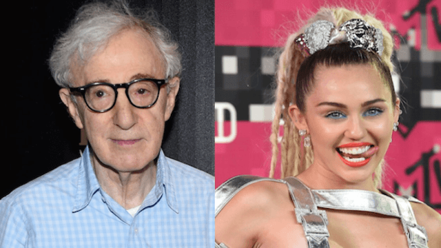 Woody Allen gushes over Miley Cyrus in interview as creepy as it sounds.