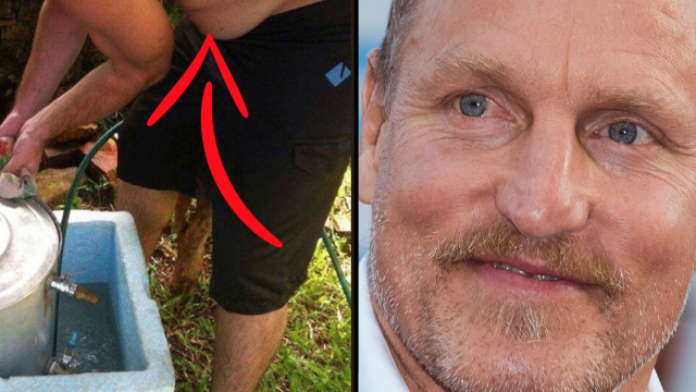 A guy pointed out a stomach that looks exactly like Woody Harrelson. He's completely right.