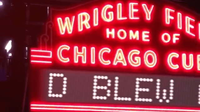 The Wrigley Field marquee brilliantly trolled Cleveland on behalf of Dub Nation.