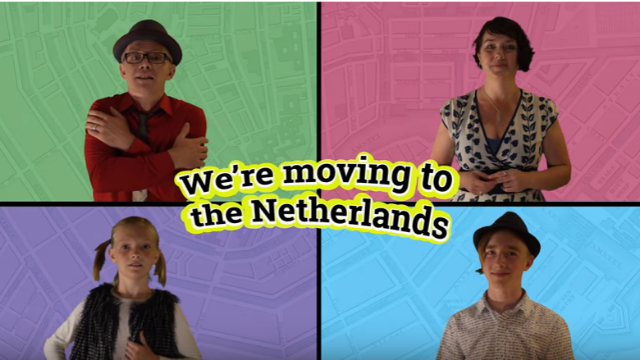 World's perkiest family lets everyone know they are moving overseas. In song. While wearing fedoras.