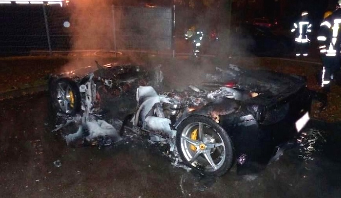 World's worst rich kid gets Ferrari from dad, sets it on fire for unimaginably selfish reason.