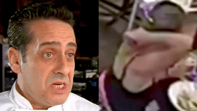 Restauranteur posts surveillance video to expose reviewer who tried to scam him with a hair.