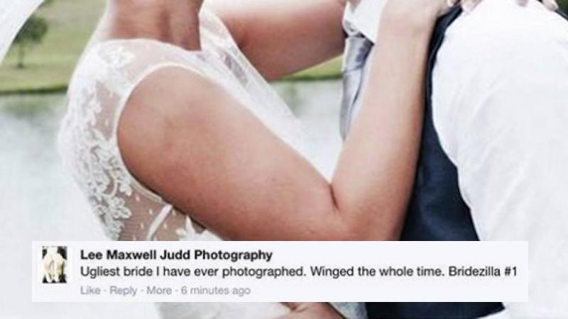 A wedding photographer insulted the bride on Facebook. THEN it got weird.
