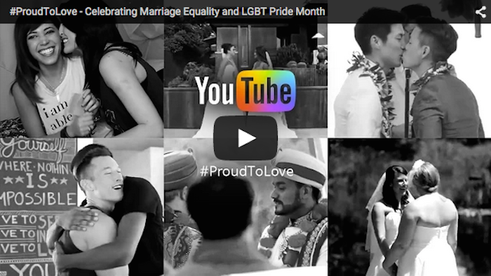 YouTube made a supercut of people coming out to celebrate marriage equality.