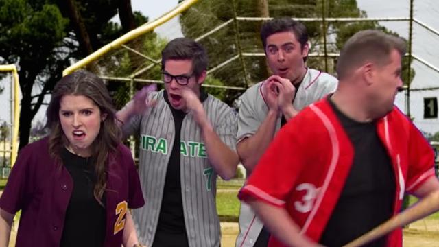 Anna Kendrick, Zac Efron, and Adam DeVine recreate every great sports movie in under 7 minutes.