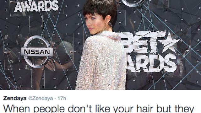 People tried to shame Zendaya's new hair last night and got told...again.