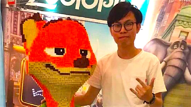 Man spends $15,000 making Lego statue, kid spends 15 seconds doing you know what.