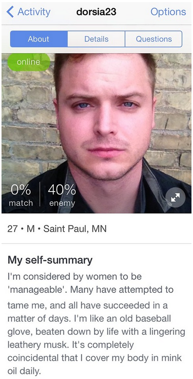 Best male online dating profile