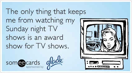 The only thing that keeps me from watching my Sunday night TV shows is an awards show for TV shows.