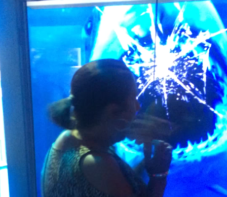 This woman had a terrifyingly close encounter with a digital shark.