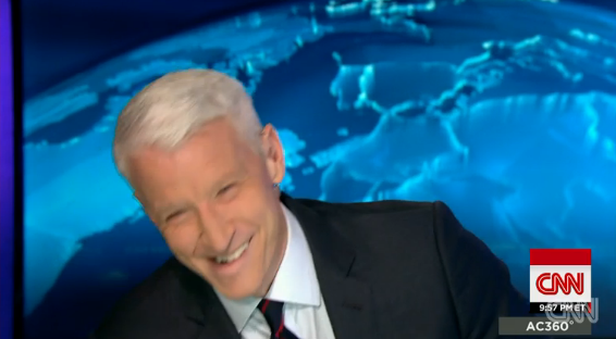 Anderson Cooper was pranked by his staff on live TV because they hate how bad he smells.