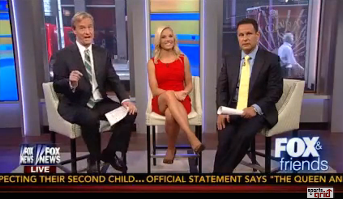 "Laughing 'Fox & Friends' hosts: lesson of Ray Rice is ""take the stairs"" and watch for cameras."