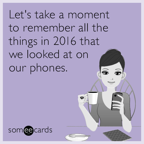 Let's take a moment to remember all the things in 2015 that we looked at on our phones.