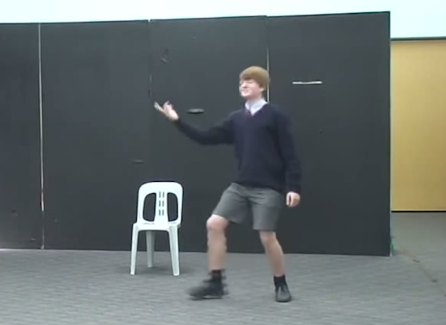 Kid's painful audition for Shakespeare play is memorable for all the wrong reasons.