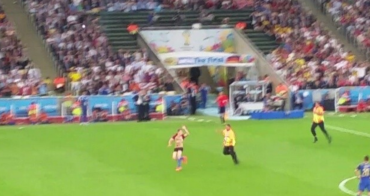 A random guy's video of the World Cup streaker went viral. That random guy was LeBron James.