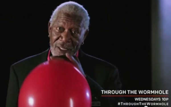 Morgan Freeman on helium sounds as cool as one can possibly sound on helium.