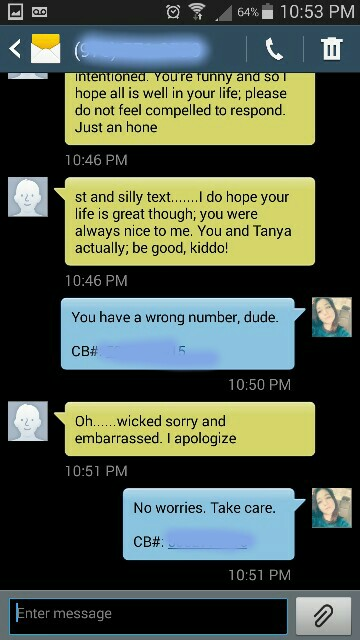 a guy texted the wrong number narrowly avoiding being a creep to