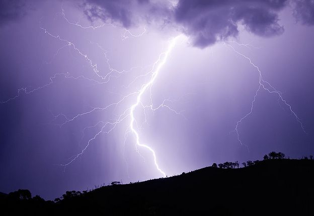 Some guy accidentally filmed the moment he survived being struck by lightning.