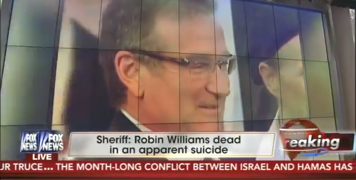 """Fox News anchor Shepard Smith apologizes for calling Robin Williams """"such a coward"""" on-air."""