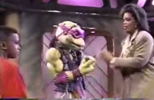 That time when Oprah Winfrey grilled the Teenage Mutant Ninja Turtles about their interspecies sex fantasies in front of an audience full of kids.
