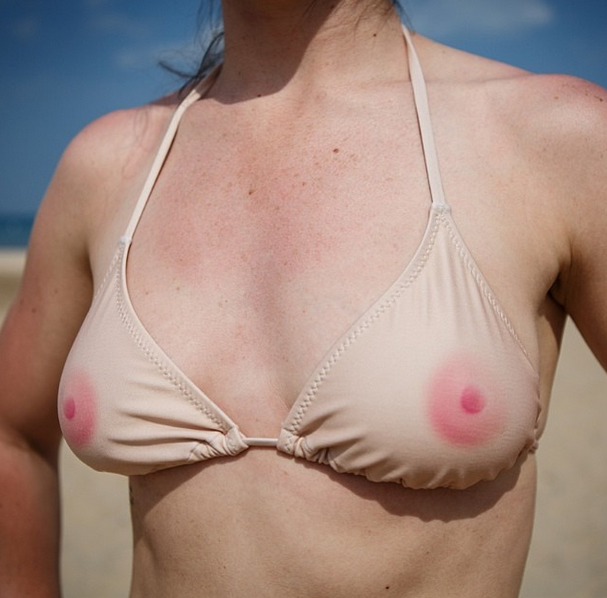 Want to be topless in public this summer without going to prison? This nipple bikini is for you.